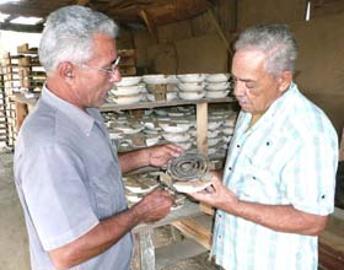 Juan Delgado y Andrés San Román, los dos innovadores del barro.