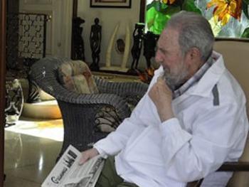 Fidel Castro en una imagen reciente tomada por su hijo, alex Castro.