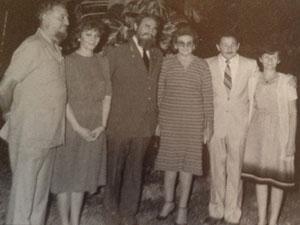 De izq a der: Ramón, Enma, Fidel, Angela, Raúl y Agustina Castro, en 1985