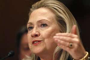 Hillary Clinton ante una audiencia en el Congreso.