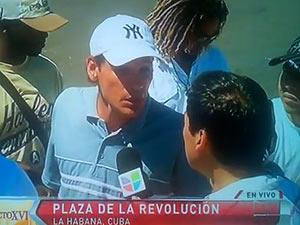 Joven entrevistado por Univisión en la Plazas de la Revolución hace duras críticas al régimen.