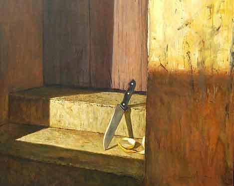 Sin título (detalle), lienzo de Arturo Montoto (Cuba)