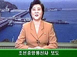 Imagen tomada de la television estatal de Corea del Norte.