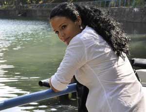 La periodista Mairelys Cuevas se encuentra en Miami.