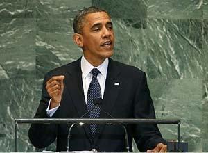 El presidente Barack Obama interveiene el martes ante el plenario de Naciones Unidas.