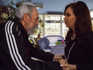 Fidel Castro se reúne con la presidenta argentina Cristina Fernández el 11 de enero en La Habana