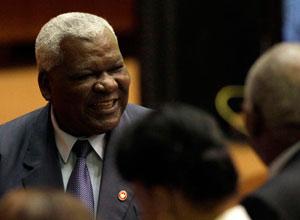 Esteban Lazo en la sesión constitutiva del parlamento cubano, este domingo.