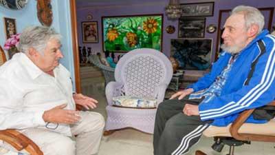 """Fidel Castro muy preocupado por el virus del Zika; Mujica dice que lo vio """"centelleante"""""""
