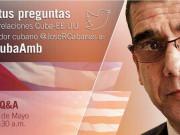 Embajador cubano responde preguntas por Twitter