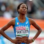 Yusneysi Santiusti, de 31 años, corredora de 800 metros en representación de Italia. Pasó la ronda clasificatoria pero fue eliminada en semifinales con 2:00:80.