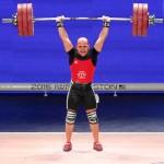 Bredni Roque Mendoza, pesista de 28 años. Quedó quinto en la categoría de los 69 kg, compitiendo por México, adonde vive casado con una mexicana.