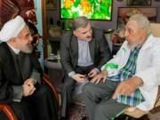Fidel Castro recibe al presidente iraní en Punto Cero