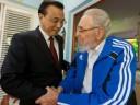 Fidel Castro recibe a primer ministro chino; Raúl Castro en Cartagena