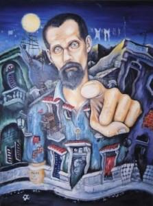 Calle Flores, 2002. Serie Querida Habana. Homenaje a Juan Carlos Flores, del pintor Carlos Vega